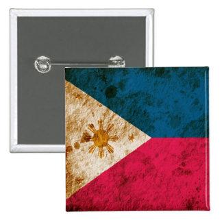 Bandera filipina rugosa pins
