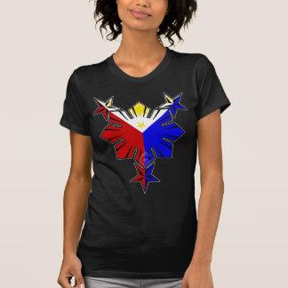 Bandera filipina Sun y camisa de las estrellas