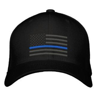 Bandera fina de Blue Line los E.E.U.U. en carbón Gorras De Béisbol Bordadas