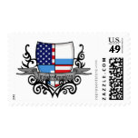 Bandera Finlandés-Americana del escudo