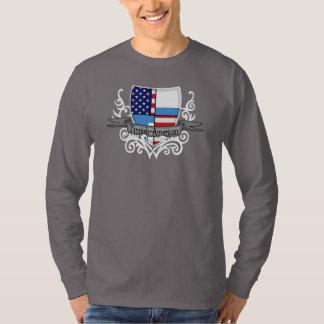 Bandera Finlandés-Americana del escudo Camisas