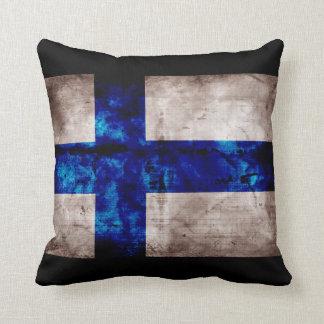 Bandera finlandesa cojín decorativo