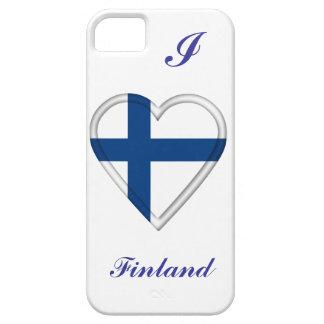 Bandera finlandesa de Finlandia iPhone 5 Carcasa