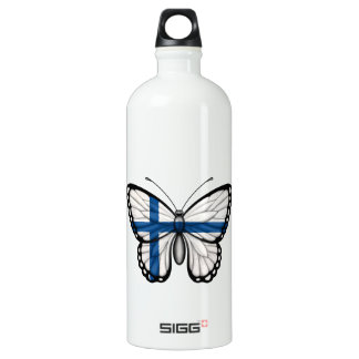Bandera finlandesa de la mariposa