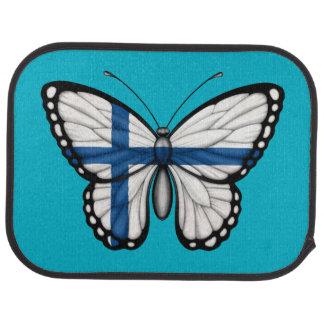 Bandera finlandesa de la mariposa alfombrilla de auto
