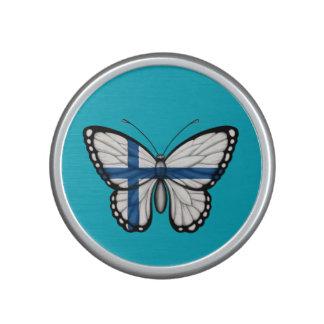Bandera finlandesa de la mariposa altavoz bluetooth