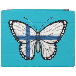Bandera finlandesa de la mariposa cubierta de iPad