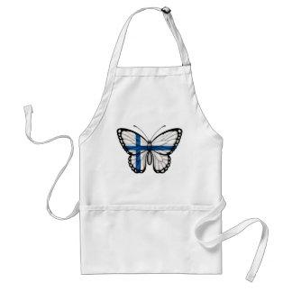 Bandera finlandesa de la mariposa delantal