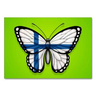 Bandera finlandesa de la mariposa en verde