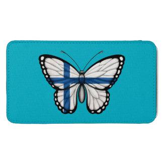 Bandera finlandesa de la mariposa funda acolchada para galaxy s5