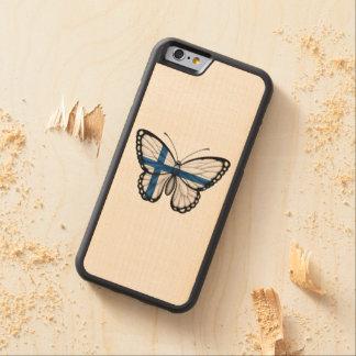 Bandera finlandesa de la mariposa funda de iPhone 6 bumper arce
