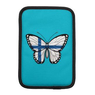 Bandera finlandesa de la mariposa fundas iPad mini