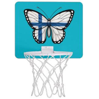 Bandera finlandesa de la mariposa minicanasta