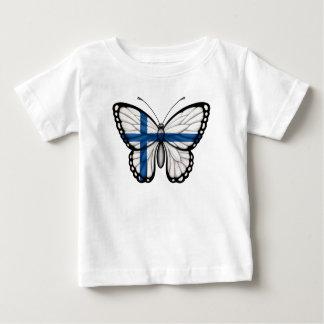 Bandera finlandesa de la mariposa polera