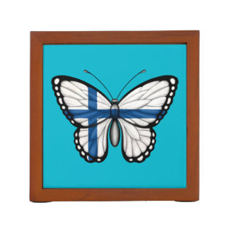Bandera finlandesa de la mariposa portalápices
