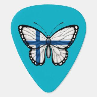 Bandera finlandesa de la mariposa púa de guitarra