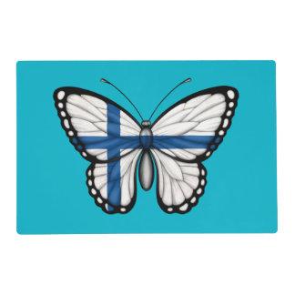 Bandera finlandesa de la mariposa salvamanteles