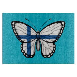 Bandera finlandesa de la mariposa tablas para cortar