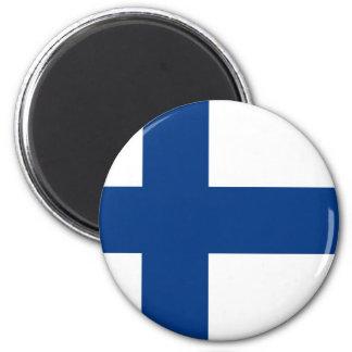 Bandera finlandesa en el imán