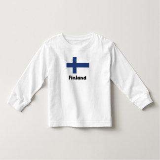 Bandera finlandesa playeras