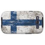 Bandera finlandesa rascada y llevada galaxy SIII protector