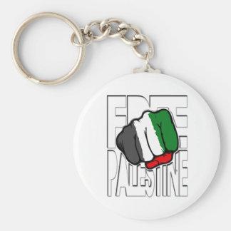Bandera Fist de Palestina libre ' Llavero Redondo Tipo Pin