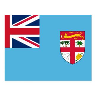 Bandera FJ de Fiji Postales