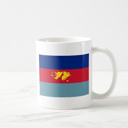 Bandera FK de la defensa de Islas Malvinas (Malvin Tazas De Café
