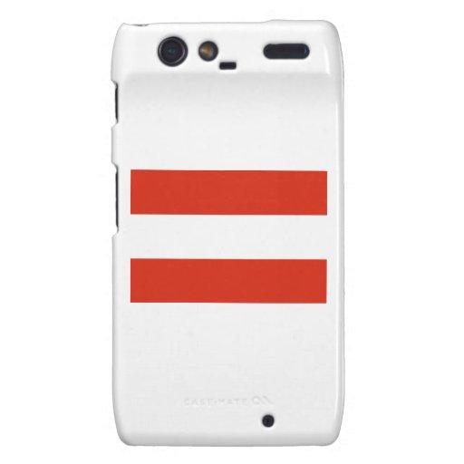 Bandera - Flagge - Fahne - Austria - Österreich Motorola Droid RAZR Carcasa