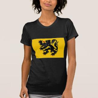 Bandera flamenca de la región de Bélgica Camiseta