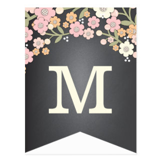 Bandera floral del empavesado de la bandera DIY Tarjeta Postal