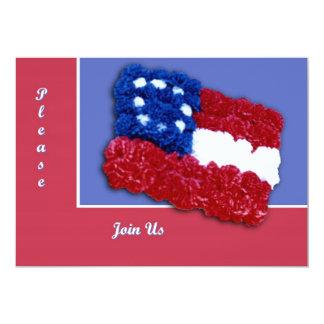 Bandera floral invitación 12,7 x 17,8 cm