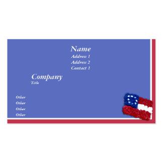 Bandera floral tarjetas de visita