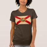 Bandera Floridian del modelo del vintage Camisetas