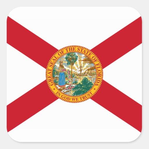 Bandera Floridian Pegatina Cuadradas Personalizada