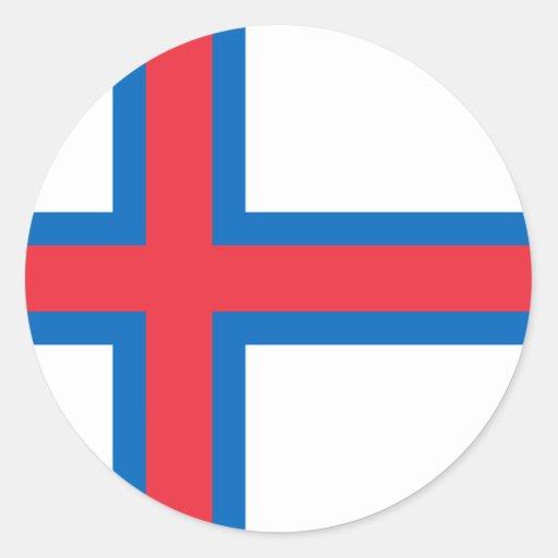 Bandera FO de Faroe Island Pegatina Redonda