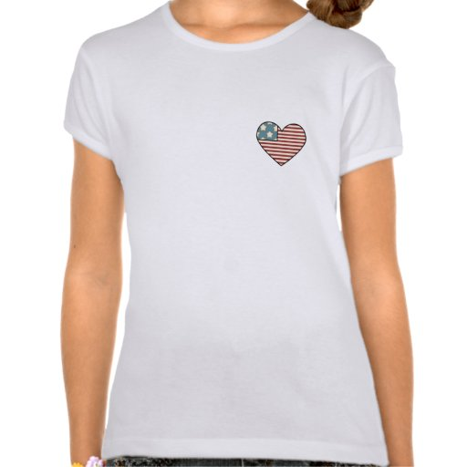 Bandera formada Orgullo-Corazón americano Camiseta