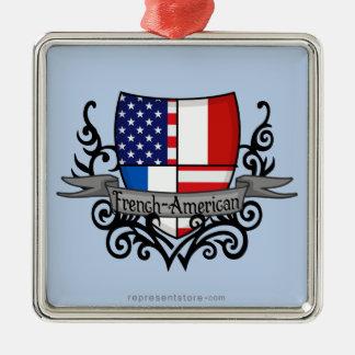 Bandera Francés-Americana del escudo Adorno Para Reyes
