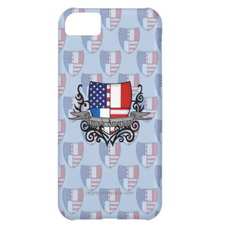 Bandera Francés-Americana del escudo Funda iPhone 5C