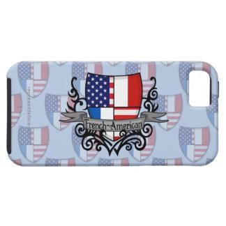 Bandera Francés-Americana del escudo iPhone 5 Funda