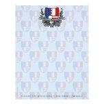 Bandera Francés-Americana del escudo Membrete