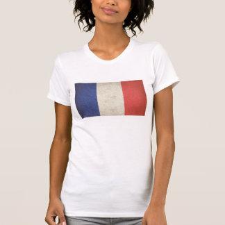 Bandera francesa apenada camisetas