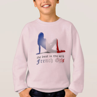 Bandera francesa de la silueta del chica poleras