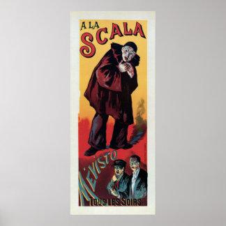 Bandera francesa de la vertical del La Scala del v Poster