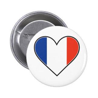 Bandera francesa del corazón pin