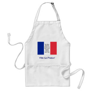 Bandera francesa delantal