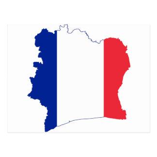 bandera francesa en la forma de Francia Postal