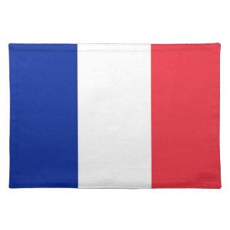 Bandera francesa en MoJo Placemat Mantel Individual