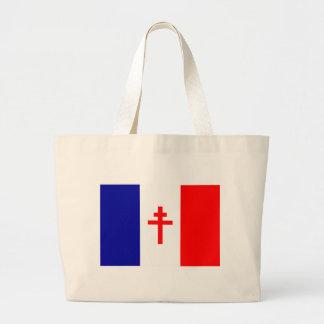Bandera francesa libre de las fuerzas bolsas