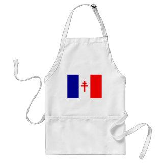 Bandera francesa libre de las fuerzas delantales